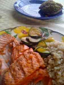 cooked copper river salmon