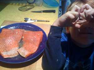 love copper river salmon with Red Rex