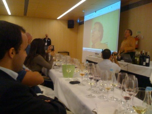 Charles Metcalf tasting at European Wine Bloggers Conference