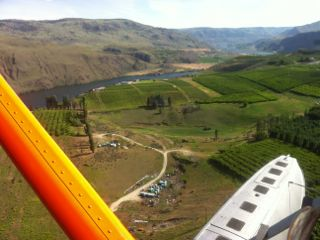 Lake Chelan seaplane view