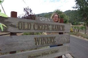 Wine Predator Gwendolyn ALley at Old Creek Ranch Winery photo by Pineapple Helen