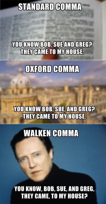 the Walken comma