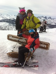 my family and I at the top of Mammoth Mountain