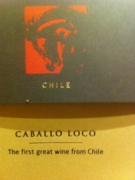 "the flagship wine ""Caballo Loco"" is a wild ride! photo by G. Alley"